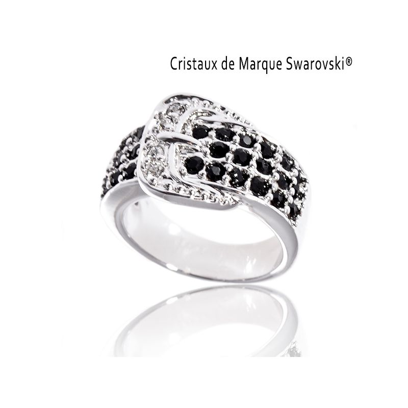 bague la courgar avec cristaux swarovski bague dames. Black Bedroom Furniture Sets. Home Design Ideas