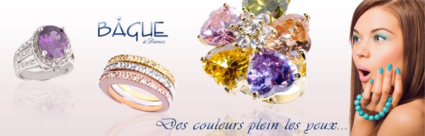 Bijoux et bagues fantaisie multicolore