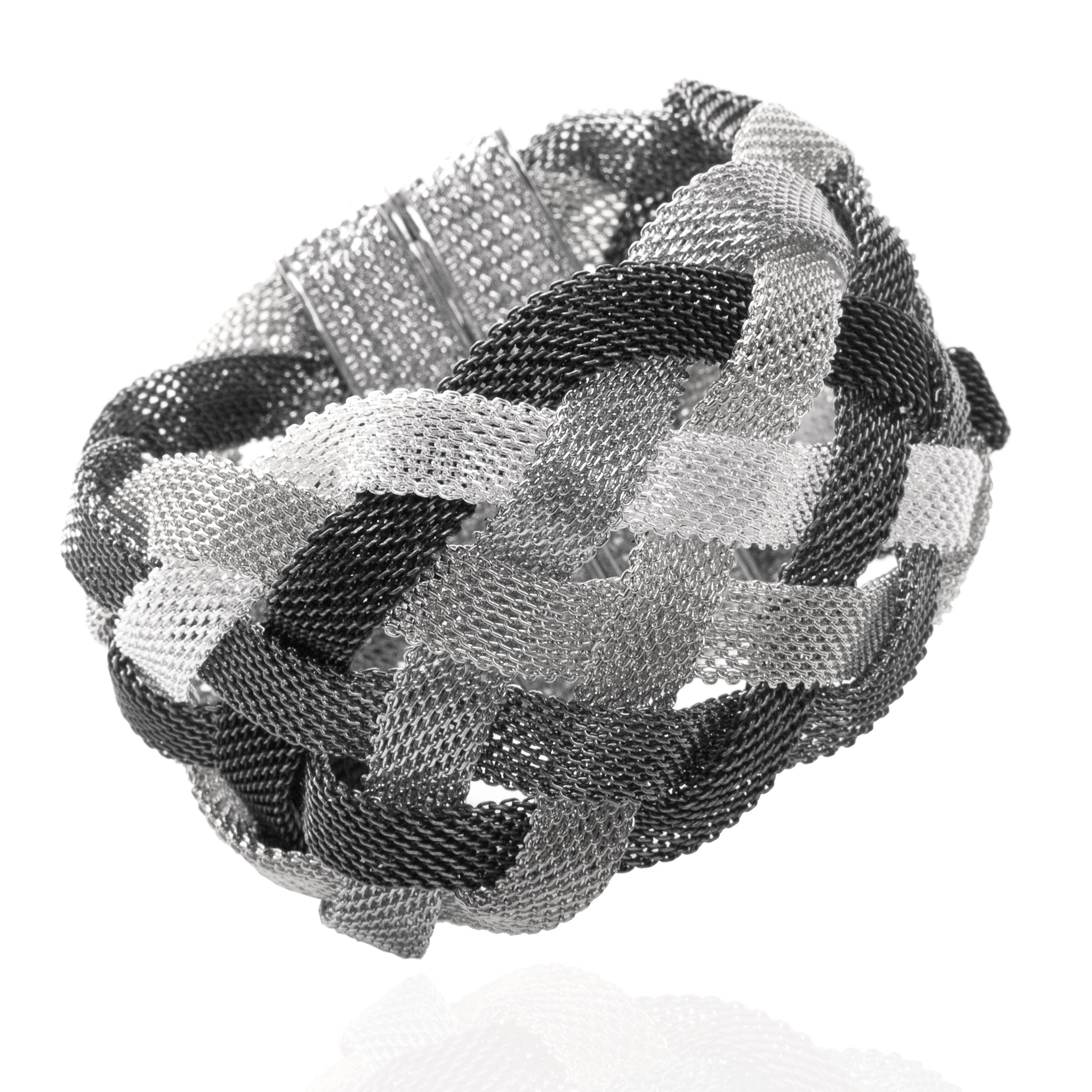 Bracelet Le Torsadé gris