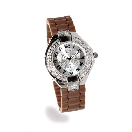 Montre Silicone La Sublime Marron
