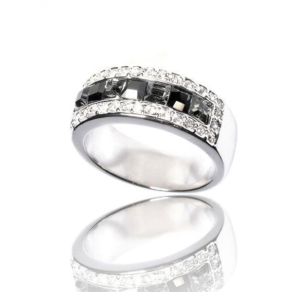 Ring La Royale Argentée Noire
