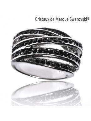 Ring L'Illuminée Noire Swarovski Crystals