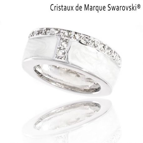 Ring La Tigresse Blanche Swarovski Crystals