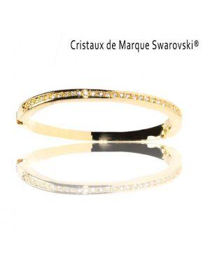 Bracelet L'Incontournable Doré avec Cristaux Swarovski