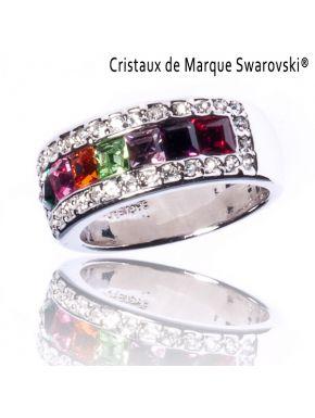 Bague La Royale Argentée Cristaux Swarovski