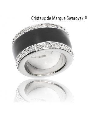 Bague La Majestic Noire Cristaux Swarovski