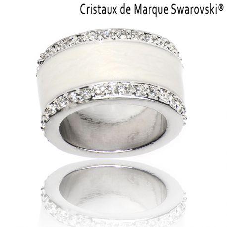 Bague La Majestic Blanche Cristaux Swarovski