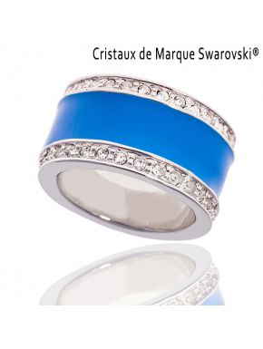 Bague La Majestic Bleu Cristaux Swarovski