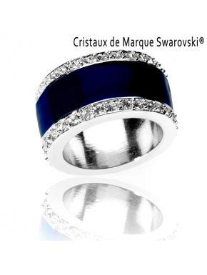 Bague La Majestic Bleue Cristaux Swarovski