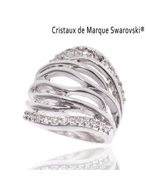 Bague metal cristal swarovski